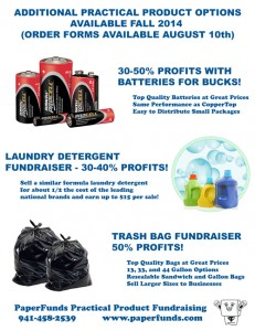 Fundraising with laundry detergent trash bags batteries 231x300 Unique Fundraising Ideas